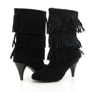 Chinese Laundry NWT kipp suede fringe booties 7